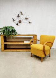 bamboo room divider display vintage sideboard bamboe kast bohemian jaren 60