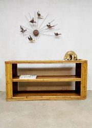 Vintage bamboo sideboard bamboo room divider dressoir 'Boho'