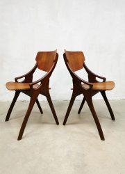 Mogens Kold Danish stoelen eetkamerstoelen dining chairs Hovmand Olsen sixties vintage Deens design