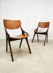 Sixties Danish design dining chairs vintage Mogens Kold eetkamerstoelen stoelen Hovmand Olsen