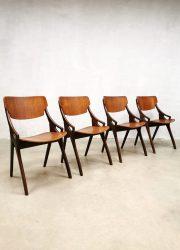 Danish vintage dinner chairs eetkamerstoelen Hovmand Olsen'Teak'