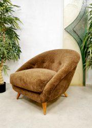 Vintage Dutch design easy chair lounge fauteuil 'Teddy'