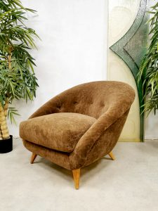Vintage Dutch design easy chair lounge fauteuil 'Teddy'