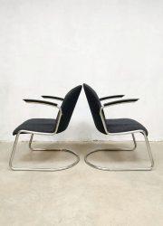 Vintage design arm chairs lounge fauteuils model 413 Willem Hendrik Gispen