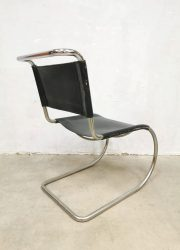 Vintage design dining lounge chair fauteuil stoel MR10 Ludwig Mies van der Rohe Knoll International