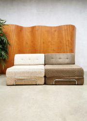 Vintage lounge sofa daybed fauteuil bank 'structure duo tone'