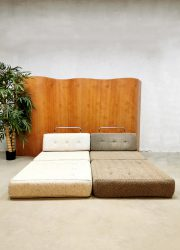 midcentury sofa daybed structure fabric fauteuil