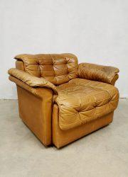 Vintage design patchwork armchair ottoman lounge fauteuil voetenbank De Sede DS-11
