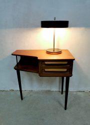 Bureaulamp sixties Kamenický Šenov fifties vintage desk lamp table Czech design