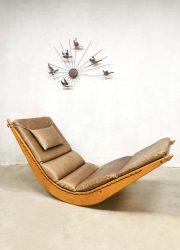 midcentury panton style schommelstoel rocking chair