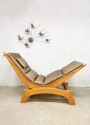 vintage jaren 80 90 design schommelstoel rocking chair