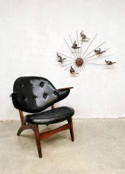 Midcentury design easy chair lounge fauteuil Arne Hovmand Olsen