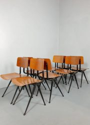 Friso Kramer vintage industrial school chairs Result