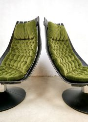 vintage design easy swivel chair lounge fauteuil Hans Brattrud Norway