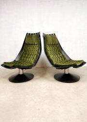 Norway design fauteuil swivel chair Hans Brattrud