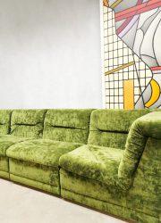 green velvet sofa modulaire velours bank