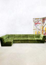 Vintage design modular sofa elementen bank 'forest green'