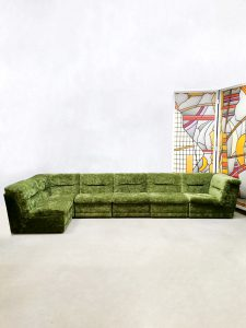 Vintage design modular sofa elementen bank 'forest green'