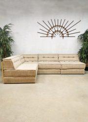 Vintage modular sofa modulaire elementen bank 'naturel tones'