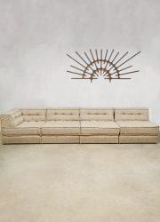 vintage design modular sofa modulaire bank sand beige