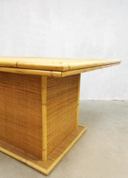 hollywood regency dining table bamboo bamboe