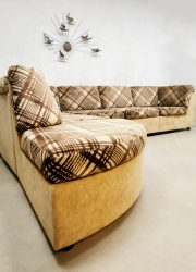 Vintage modular sofa modulaire lounge bank 'Criss cross brown beige'