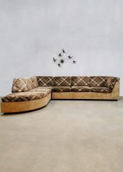Elementen modulaire bank elements modular lounge sofa vintage French design fifties seventies