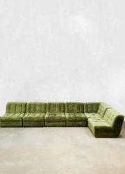 Seventies design modulaire elementen bank vintage velvet modular sofa