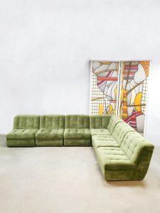 Modulaire sofa elementen bank seventies modular vintage design Boho