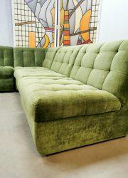 Bank sofa vintage velvet modular elements modulair bank sofa jaren 70