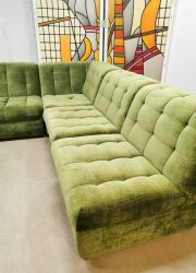 Vintage modular lounge sofa modulaire elementen bank 'soft green'