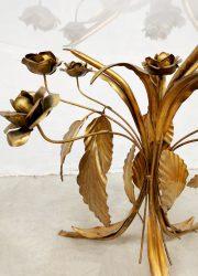 vintage salontafel gold gilded coffee table side table hollywood regency
