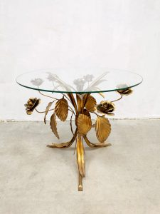 midcentury gold gilded coffee table side table hollywood regency