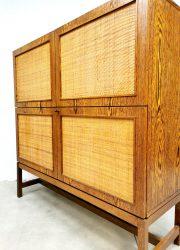 rotan cabinet vintage design kast