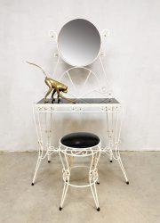Vintage Italian dressing table & stool vanity table kaptafel
