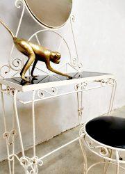 Vintage Italian dressing table & stool kaptafel console Baroque style
