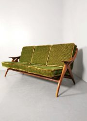 Vintage Dutch design lounge sofa bank De Ster Gelderland