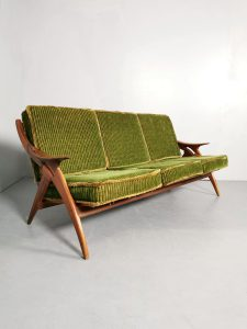 Vintage Dutch design sofa lounge bank De Ster Gelderland
