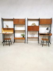 Vintage Simpla lux wall unit cabinet wandsysteem wandkast