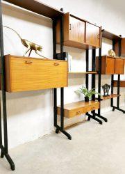 vintage Simpa lux wall unit cabinet wandkast