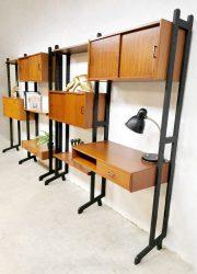 vintage wandsysteem wandkast wall unit deense stijl danish wall unit Dansih style Simplalux