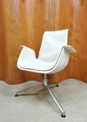 Tulip office chair bureaustoel Kill international white leather