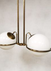art deco style pendant bollamp brass messing hanglamp