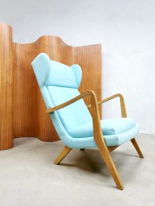vintage wingback chair lounge fauteuil