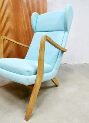 Vintage Danish wingback chair lounge fauteuil Deens design