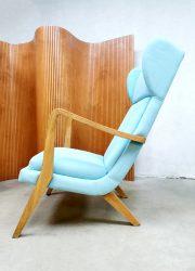 Wingback Danish lounge chair