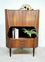 Midcentury design corner cabinet bar hoekkast 'rosewood delight'