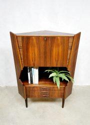 rosewood corner cabinet hoekkast Danish design palissander