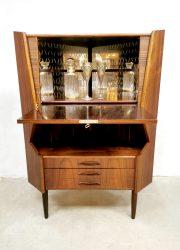 rosewood vintage cabinet hoekkast ladekast cabinet
