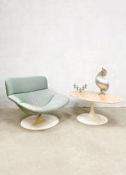 Midcentury design marble oval coffee table marmeren salontafel